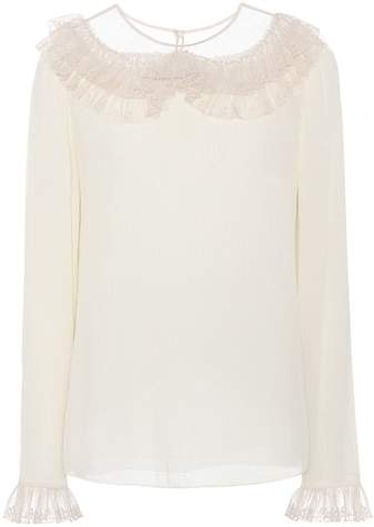 Chloé Silk-crêpe blouse