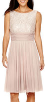 Jessica Howard La Nouvelle Renaissance Sleeveless Ruched-Waist Dress