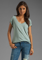 AG Adriano Goldschmied Pocket V Neck Tee