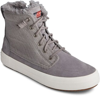 Sperry Crest High Top Sneaker with Faux Fur Trim