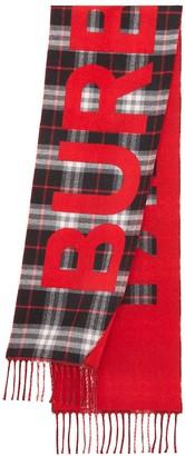 Burberry Vintage Check logo scarf