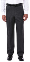 Haggar Premium Stretch Tic Weave Dress Pant - Classic Fit, Flat Front, Hidden Expandable Waistband