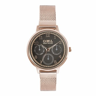 OWL Women's Analogue Japanese Quartz Watch with Stainless Steel Strap H8MRG