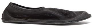 The Row Mesh Slipper Flats - Black