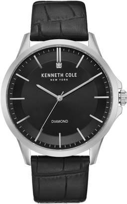 Kenneth Cole New York Genuine Diamond KC50208001 Leather Strap Watch