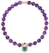 Mellerio Diamond and tourmaline pendant amethyst necklace