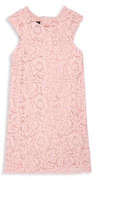 Laundry by Shelli Segal Girl's Lace Shift Dress