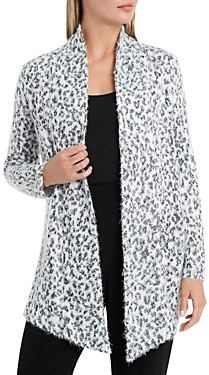 Vince Camuto Fuzzy Drape Front Cardigan