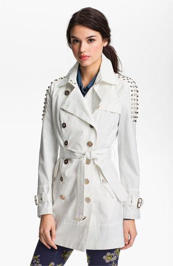 Sam Edelman Studded Shoulder Trench Coat Small