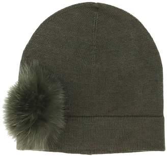 Etereo Fox Fur-Trim Beanie