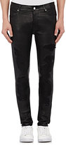 RtA Men's Stretch-Lambskin Jeans-BLACK