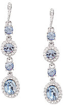 Givenchy Faux-Sapphire Linear Drop Earrings