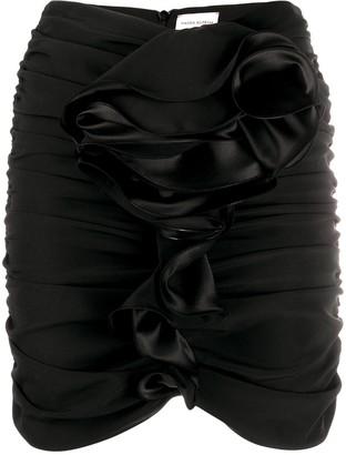 Magda Butrym Luxor gathered mini skirt
