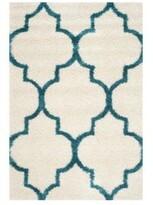 Safavieh Teal & White Rectangular Rug
