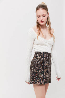 Urban Outfitters Tara Side-Zip Mini Skirt