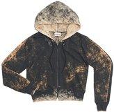 Cotton Citizen Women's Milan Crop Zip Hoodie - Charcoal Dust