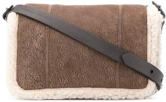 Brunello Cucinelli fur trim shoulder bag