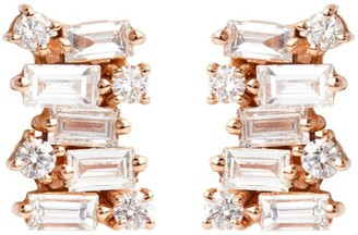 Suzanne Kalan Rose Gold Diamond Fireworks Earrings