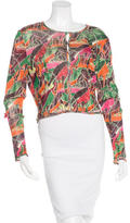 John Galliano Printed Cropped Cardigan