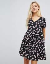 Daisy Street Smock Dress In All Over Daisy Print