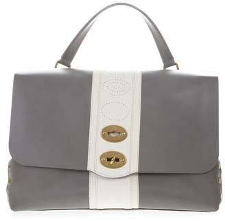 Zanellato Grey & White Leather Postina Bag