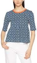 Orla Kiely Women's Shadow Flower Jersey Peplum T-Shirt,(Manufacturer Size:Large)