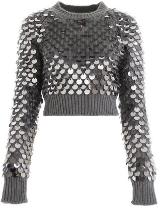 Prada Sequin Cropped Knit