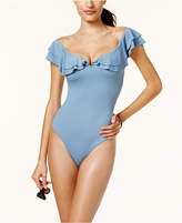 Becca Color Splash Off-The-Shoulder One-Piece Swimsuit