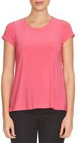 CeCe Sweet Heart Lace Trimmed T-Shirt
