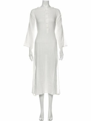Natalie Martin Crew Neck Long Dress w/ Tags White