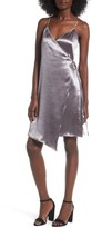 Leith Women's Textured Satin Wrap Dress
