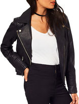 Miss Selfridge Faux Leather Biker Jacket