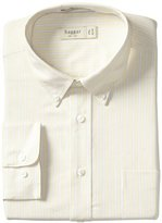 Haggar Men's Regular-Fit Pinpoint Oxford Pattern Dress Shirt