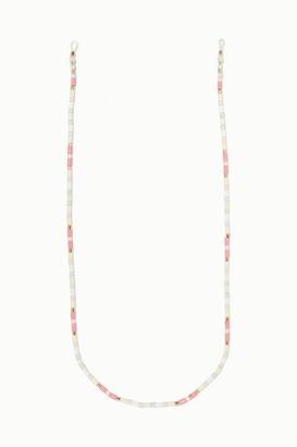 Roxanne Assoulin - Bahamas Enamel And Gold-tone Sunglasses Chain - Pink