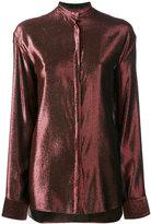 Haider Ackermann metallic stripe shirt - women - Silk/Cotton/Nylon/Wool - 34