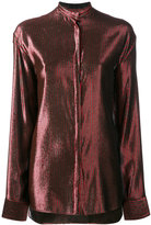 Haider Ackermann metallic stripe shirt - women - Silk/Cotton/Nylon/Wool - 36