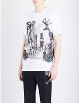 Lanvin The Refinery graphic-print cotton-jersey T-shirt