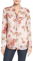 KUT from the Kloth Women's Amelie Tie Neck Floral Blouse