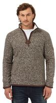 Mantaray Brown Waffle Texture Funnel Neck Sweater