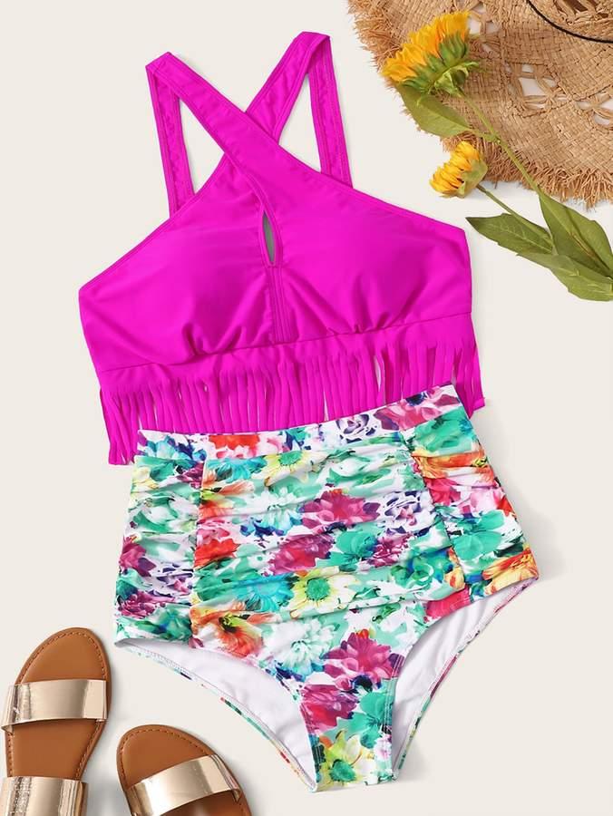 b1472840ad Fringe Bikini Swimsuit - ShopStyle