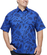 Ecko Unlimited Unltd. All Logo Short-Sleeve Woven Button-Front Shirt - Big & Tall