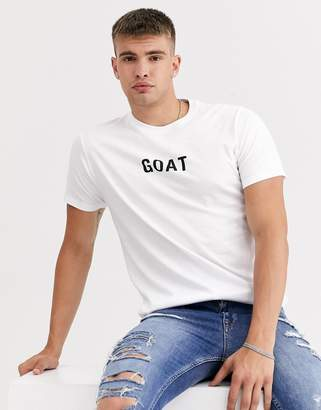 Brave Soul goat t-shirt-White