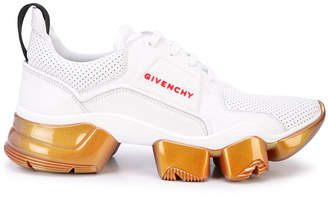 Givenchy iridescent jaw low top sneakers white