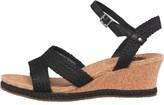 UGG Womens Luann Wedged Sandals Black