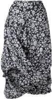 Vivienne Westwood floral draped skirt - women - Cotton - 38