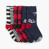 J.Crew Boys' wolf striped socks three-pack