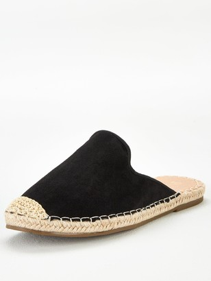 Very Maeve Backless Flat Espadrille - Black