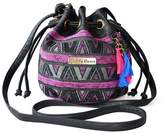 Elisona Ethnic Canvas Drawstring Mini Bucket Backpack Shoulder Bag Satchel Balck Totem