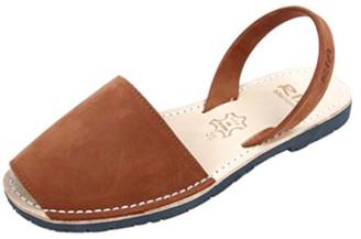 riA Sandal - 39 / braun / Nubuk Leder