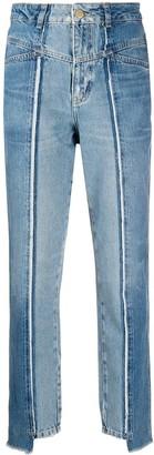 Essentiel Antwerp High Waist Contrast Panel Jeans